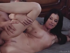 Hot, brown mommy got close by and dirty with say no to step- daughters boyfriend, just for relaxation