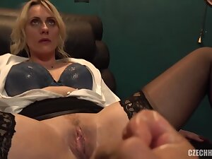 Brittany Bardot likes the way her therapist is fingering her pussy and fucking her aggravation hole