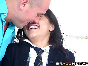 Schoolgirl Holly Hendrix gets slammed abiding relating to a classroom
