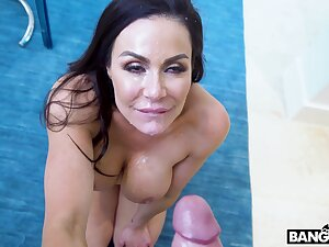 Passionate lovemaking on the floor with cum loving Kendra Lust