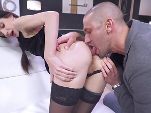 Scrumptious Arian Blitheness gets their way ass eaten before hot anal shagging