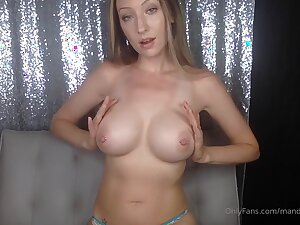 Hot blonde camgirl with big tits and pierced nipples