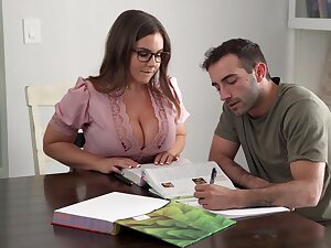 Its Hard To Stay Focussing When You Got A Busty Instructor - Natasha Accurate
