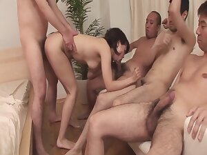 Three Guys Be captivated by Chihiro Kitagawa And Cream Her Pussy