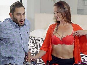 Quarter brunette wife Sofie Marie enjoys having sex with a stranger