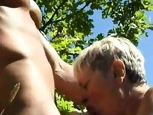Mature lady apropos  Young man 05