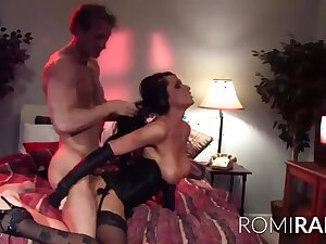 Oops - pornstar Romi rain dicked to sexy lingerie to shoddy quality porn