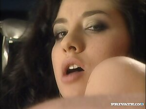 Erotic MMF threesome connected with anal fond brunette Lara Stevens
