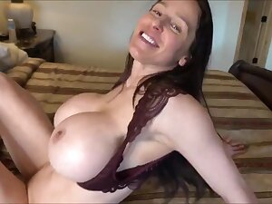 Hot tie the knot with fake monster tits gives POV deepthroat & titjob