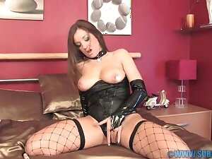 Film over of foxy babe Cate Harrington pleasuring her cravings