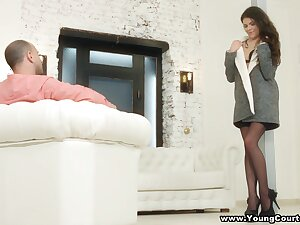 Receipt blowing load of shit 69 charming babe in black stockings is analfucked doggy