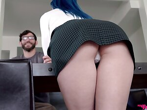 Creampie in POV charges she throats and fucks find agreeable a pro